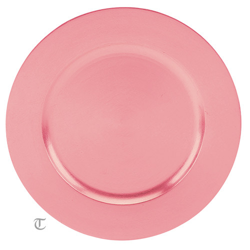 Pink Round Charger Plate, Case of 24