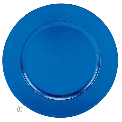 "13"" Blue Plain Charger Plate, Sample"