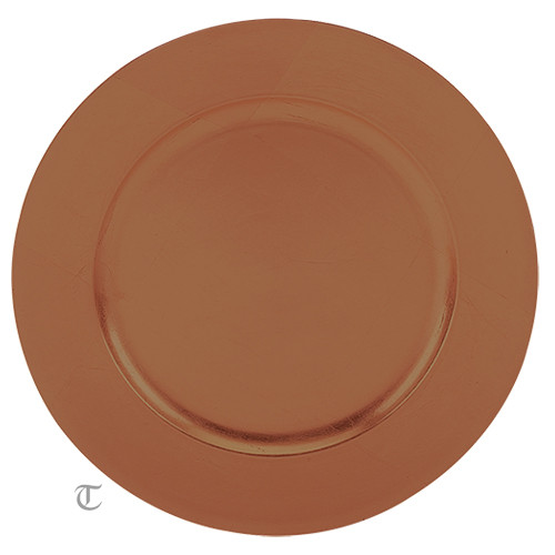 """13"""" Copper Plain Charger Plate, Sample"""