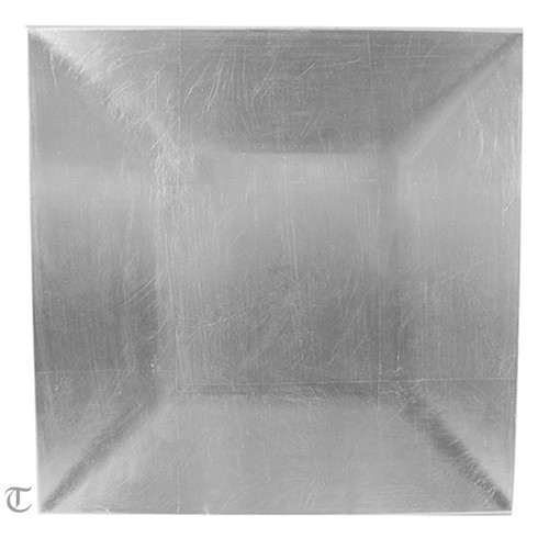 Silver Square Charger Plate, Sample