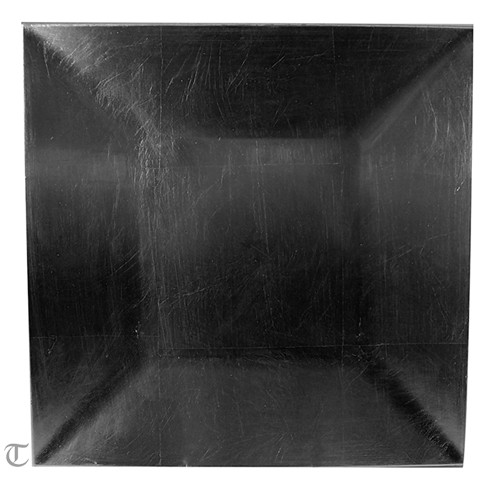 Black Square Charger Plate, Sample