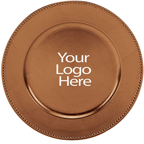 Laser Engraved Copper Beaded Charger, Case of 12