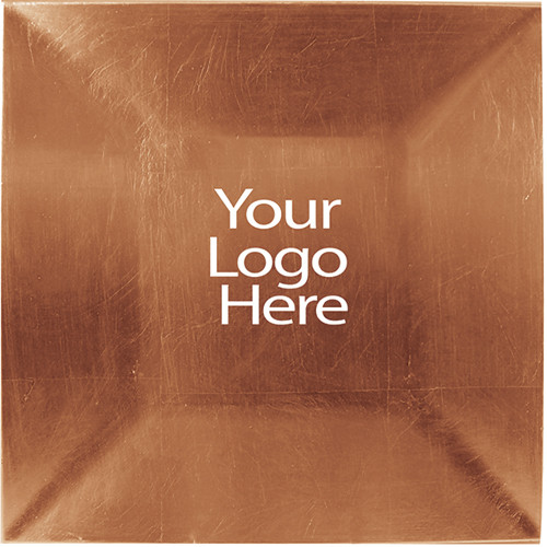 Laser Engraved Copper Square Charger Plate, Case of 12