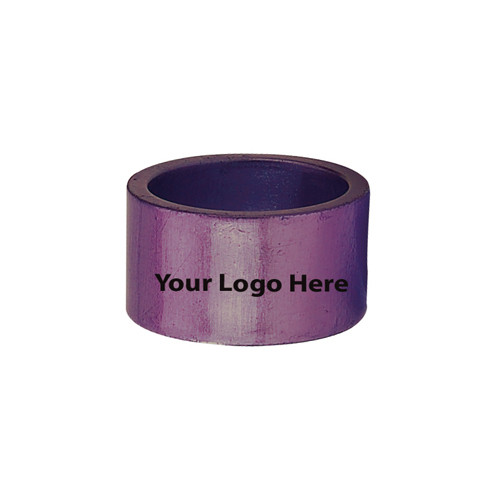 Screen Printed Purple Napkin Rings, Pkg/24