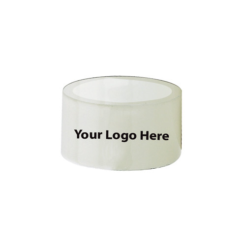 Laser Engraved White Napkin Rings, Pkg/24