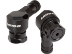 MOTO-D Angled Motorcycle Valve Stems 8.3MM - Black
