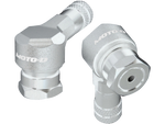 MOTO-D Angled Motorcycle Valve Stems 8.3MM - silver