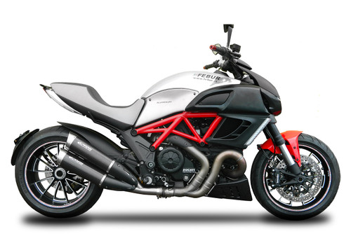 "Spark Ducati Diavel Carbon ""Double EvoV"" Semi-Full Exhaust System"