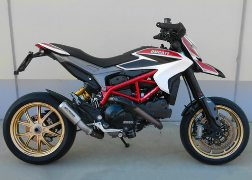 """Spark Ducati Hypermotard 939 / 821 Titanium """"GP"""" Slip-On Exhaust with Stainless Steel Link Pipe"""