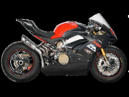 """Spark Ducati Panigale V4 """"Grid"""" Titanium Semi-Full Exhaust"""
