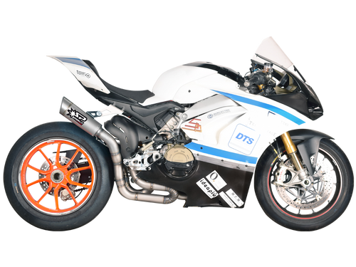 "Spark Ducati Panigale V4 Stainless Steel ""Grid"" Semi-Full Exhaust System"