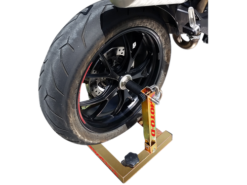 The Original Rear Trailer Restraint Stand for Motorcycles