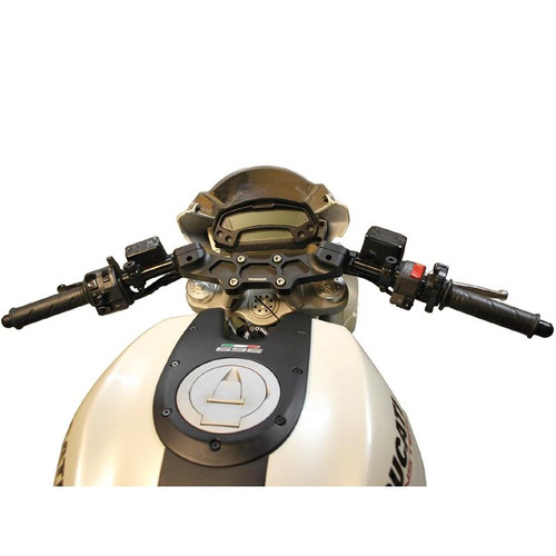 "Woodcraft Clip on kit w/1"" Riser Complete Ducati Monster 696/796/1100 2008-14 (all models)"