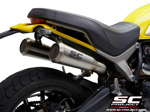 SC Project Slip On Conic 70's Style Exhaust Ducati Scrambler 1100 2018-19 (all models)
