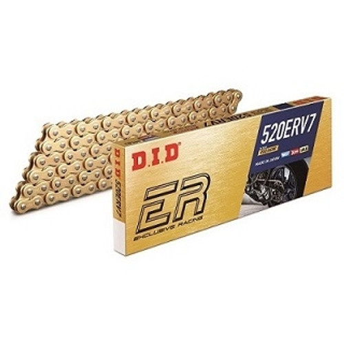 DID 520 ERV7 Gold Plated X-Ring Sealed Race Chain