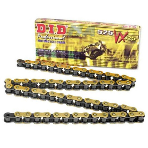 DID 525 VX Pro Street Gold Plated X-Ring Sealed Chain