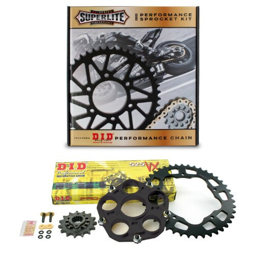 520 QC Superlite Sprocket Kit/D.I.D. Chain/ Ducati Hypermotard 950/SP 2019