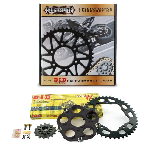 520 Conversion QC Superlite Sprocket Kit/D.I.D. Chain/ Ducati Hypermotard/Hyperstrada 939/SP 2016-2018