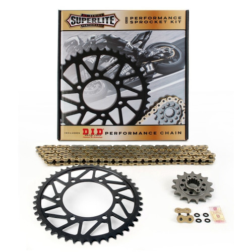 525 Steel Chain Kit Superlite RS7 Direct Replacement Steel Sprocket/D.I.D. Chain Aprilia 1200 Dorsoduro 2011-2016