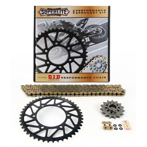 525 Steel Chain Kit Superlite RS7 Direct Replacement Steel Sprocket/D.I.D. Chain Aprilia Dorsoduro 900 2017-2019
