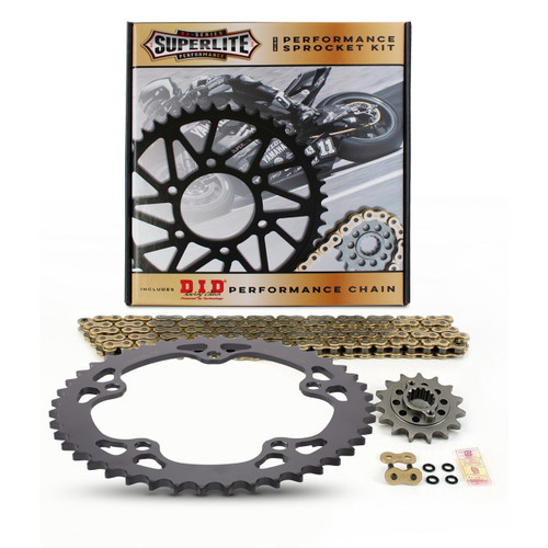 525 Steel Chain Kit Superlite RS7 Direct Replacement Steel Sprocket/D.I.D. Chain MV Agusta Brutale/Dragster/Rivale/Stradale 800 2012-2019
