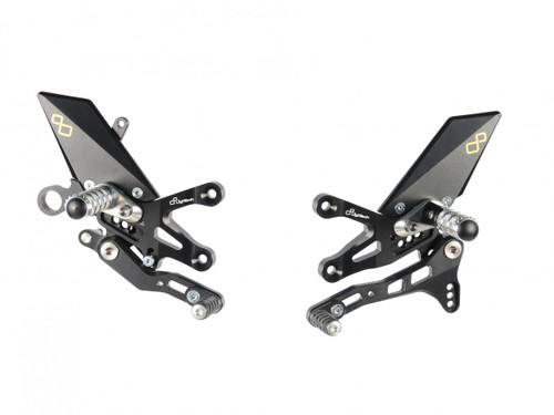 Lightech Adjustable Rearsets (GP Shift) (Folding Footpegs) Aprilia RSV4 1100 2018-2020