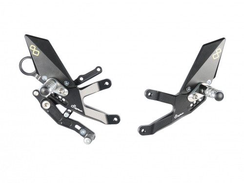 Lightech Adjustable Rearsets Standard/GP Shift (Folding Footpegs) BMW S1000RR 2015-2018