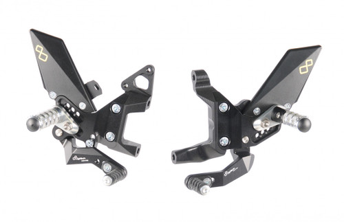 Lightech Adjustable Rearsets GP Shift (Folding Footpegs) Ducati Panigale 899/1199/959/1299 All Years
