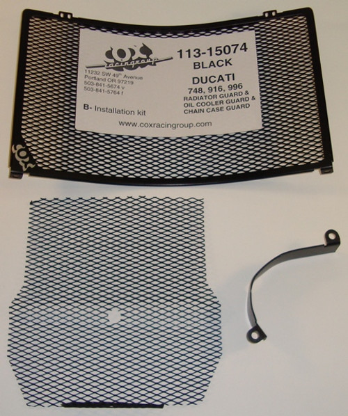Cox Racing Radiator & Oil Cooler Guard Kit (Black) Ducati 916/748/996 1994-2003