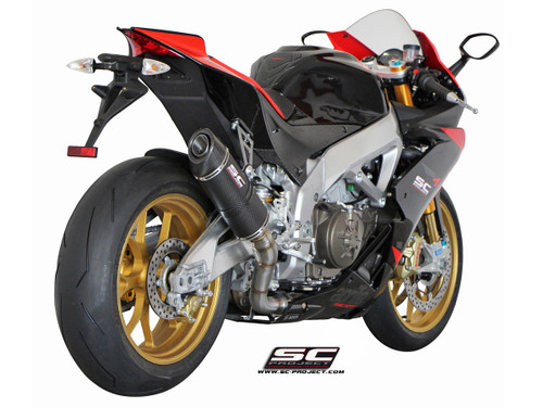 SC Project Slip On Oval Exhaust Aprilia RSV4 (all models) 2009-2014