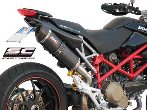 SC Project Slip On Oval Exhaust Ducati Hypermotard 1100 2007-2009