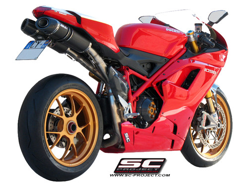 SC Project Slip On Oval Exhaust Ducati 848/1098/1198 2007-2013 (all versions)