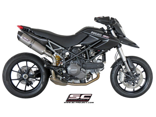 SC Project Slip On Oval Exhaust Ducati Hypermotard 796 2009-2012