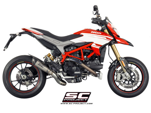 SC Project Slip On S1 Exhaust Ducati Hypermotard 821/939/SP/ 2013-2018