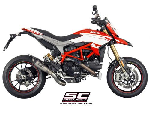 SC Project Slip On S1 Exhaust Ducati Hypermotard 821/939/SP/ 2013-2018