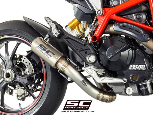 SC Project Half System CR-T Exhaust w/Titanium Link Pipe Ducati Hypermotard 821/939 2013-2018