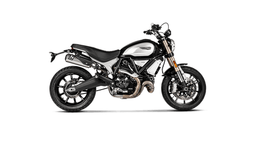 Akrapovič Slip-On/Optional Link Pipe Exhaust Ducati Scrambler 1100 2018-2019