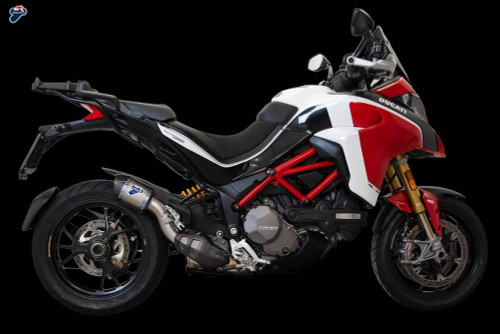 Termignoni Slip-On Titanium w/ Carbon Fiber Multistrada 1260/S/Pikes Peak (15-19) and Multistrada 1200/S/Pikes Peak (15-19)