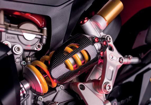 Lightech Carbon Rear Shock Protector (Gloss) Ducati Panigale 899/959/1199/1299 2012-17'