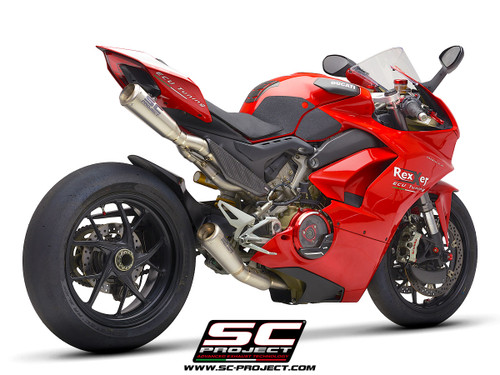 SC Project S1-GP Full Titanium Exhaust System Ducati Panigale V4/S/R 2018-2020