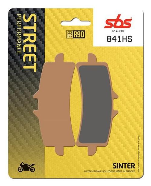 SBS Street Excel Sintered Front Brake Pads (HS) OEM Replacement Aprilia RSV4/Ducati Monster 1200/Diavel/Hypermotard 1100/MV Agusta Brutale