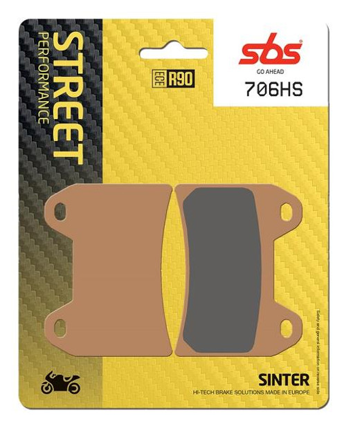 SBS Street Excel Sintered Front Brake Pads (HS) OEM Replacement Aprilia Dorsoduro/Ducati Monster 1100/Hypermotard 796/MV Agusta F3675