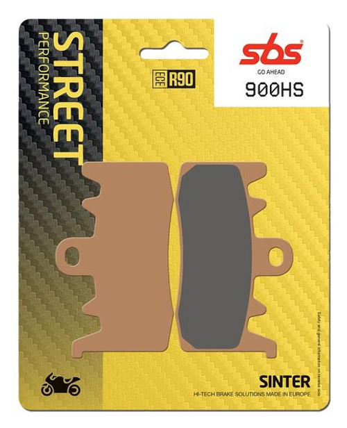 SBS Street Excel Sintered Front Brake Pads (HS) OEM Replacement Aprilia Tuono 1100/Ducati Hypermotard 939/BMW R-Nine T