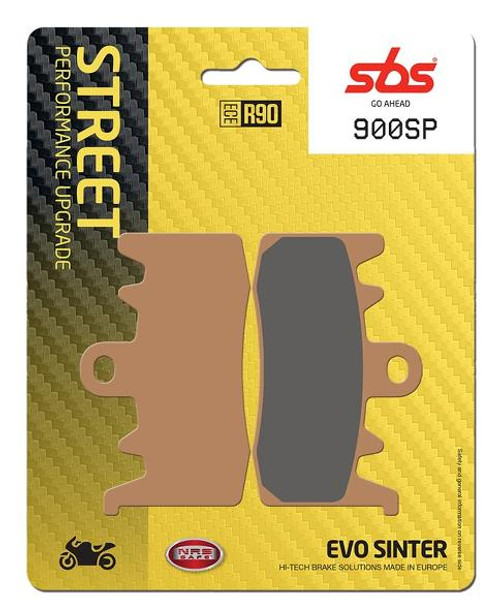 SBS EVO SP Sintered Metal Front Brake Pads (SP) Direct Replacement for Sintered OEM Pads Ducati Hypermotard 939/Monster 1200/Multistrada/BMW R Nine T/Aprilia Tuono V4