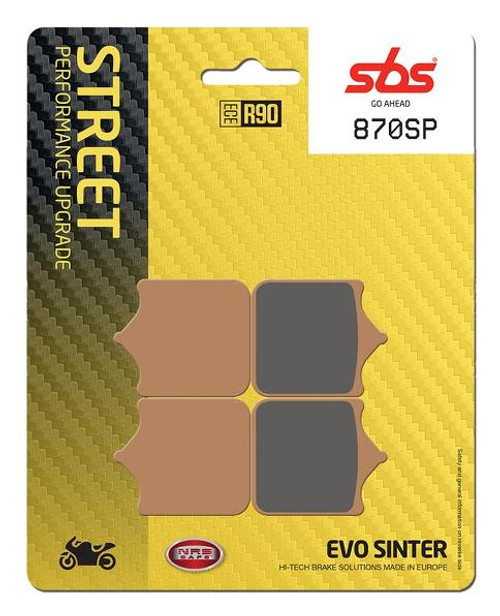 SBS EVO SP Sintered Metal Front Brake Pads (SP) Direct Replacement for Sintered OEM Pads BMW S1000RR 2010-2018