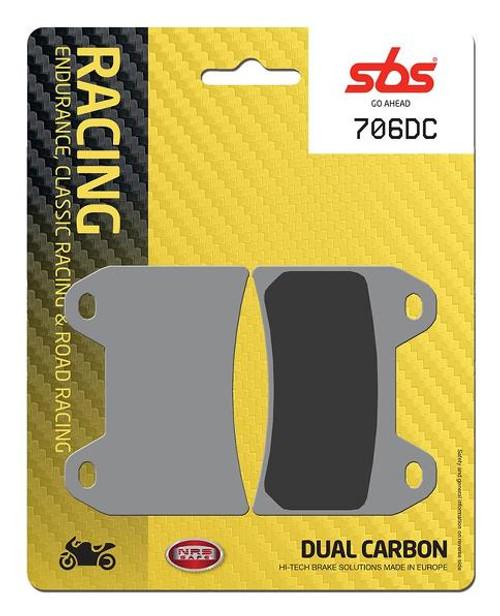 SBS DC Racing Dual Carbon Front Brake Pads Aprilia Tuono/Ducati 916/MV Agusta Brutale