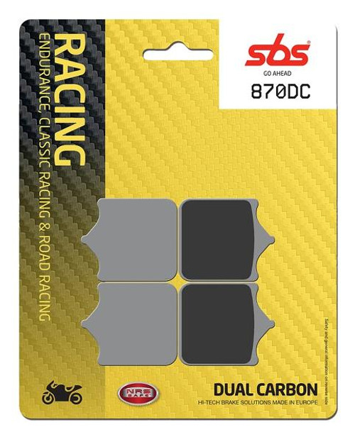 SBS DC Racing Dual Carbon Front Brake Pads BMW S1000RR 2010-2018