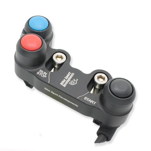 BikeSportDevelopments - Ducati 1199R SL 1299 - 3 function - Brake pump mount - Stop/Run Start Lap set