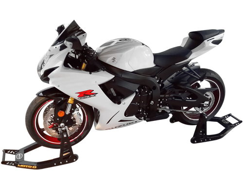 """MOTO-D """"Race"""" Stands (Front + Rear) Aluminum Combo"""