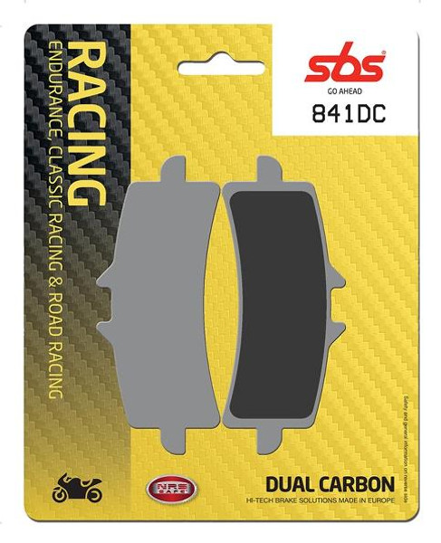 SBS DC Racing Dual Carbon Front Brake Pads Aprilia RSV4/Ducati Panigale/MV Agusta F3 800